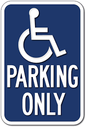 Handicap Bathroom Signs Impressive R48 California Handicapped Parking Only Signs ADA Sign Depot