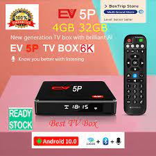 Chính Hãng] Evbox 5 Plus Smart 6K Tivi Box EV 5 Pro 5S/5P 5MAX Android 10.0 Tv  Box Trung Quốc Hàn Quốc Nhật Bản SG Của Tôi Hk Tw Cà Thái Lan