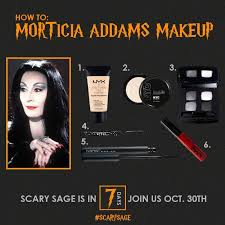 how to morticia addams makeup