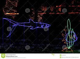 Fish Christmas Lights Christmas Lights Tropical Fish And Shark Stock Image