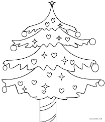 Children like to draw tree when their teacher asks them to do it. Printable Christmas Tree Coloring Pages For Kids