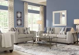 Light gray living room furniture Greyish Blue Rooms To Go Ridgewater Light Gray Pc Living Room Living Room Sets gray