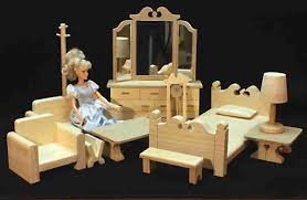 wooden barbie dollhouse furniture. Natural Classic Master Bedroom Furniture Wooden Dollhouse Dollhouses And Barbie B
