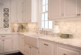 white tile kitchen remarkable 4 fabulous white kitchen design ideas marble countertop tile backsplash