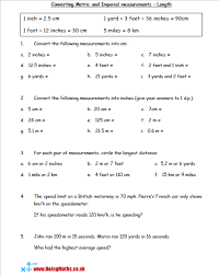 Metric And Imperial Conversions Doingmaths Free Maths