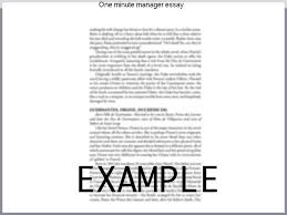 one minute manager essay research paper service one minute manager essay today s flatter organizational structures and emphasis on working in teams