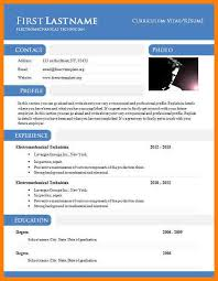 Cv Templates Doc Cv Template Resume Doc Template Newsoundco Resume