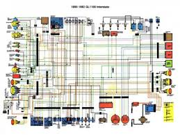 gl1100 interstate 1980 to 1982 color schematic • reference honda goldwing gl1100 interstate 1980 to 1982 color schematic