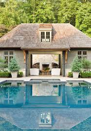 open pool house. Pool House With Folding Glass Doors Open R