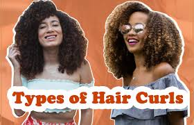 diffe types of hair curls