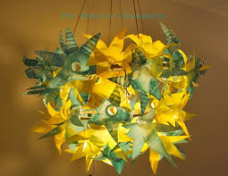 this chandelier is made of 50 plastic water bottles ine at the feminist housewife posted it over the weekend it was her recent entry in so you think