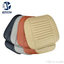 hzyeyo faux leather car seat cushion four season use car seat cover pad leather four colors t1008 leather car seat cushions leather seat cushions for car