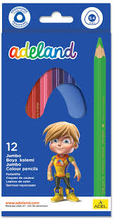 <b>Adel</b> Набор цветных карандашей <b>Adeland</b> Jumbo <b>12</b> шт 211-7510 ...