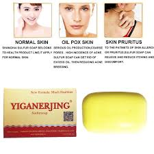 yiganerjing Sulfur Soap Skin Treatment Acne Psoriasis Seborrhea ...