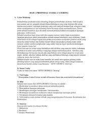 Berikut ini terdapat beberapa contoh surat penawaran catering. Proposal Usaha Catering