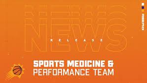 Phoenix Suns Announce Sports Medicine And Performance Team