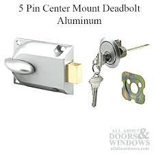 locks handles center mount deadbolt with 5 pin cylinder keys for garage door aluminum clopay garage