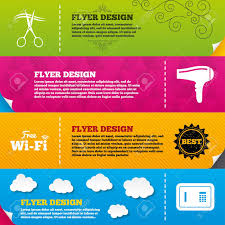 Hotel Brochure Designs Flyer Brochure Designs Hotel Services Icons Wifi Hairdryer