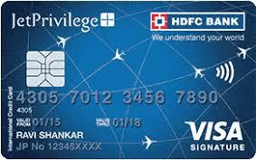 hdfcbank jetprivilege hdfc bank signature credit card jetprivilege