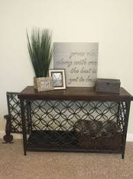 designer dog crate furniture ruffhaus luxury wooden. Turned A Console Table Into Decorative Dog Crate #DogCrates #DogBed Designer Furniture Ruffhaus Luxury Wooden O