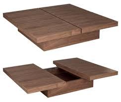 Four block storage coffee table walnut - dwell -