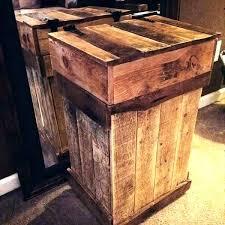 wood kitchen trash can holders wooden garbage storage outdoor holder plans
