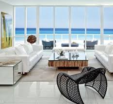 modern coastal furniture. modern coastal details living room with a beauitful view of the ocean furniture r