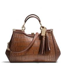 The Madison Carrie In Croc Embossed Leather from Coach- Now all I need is  the  600+ to put in the bag!