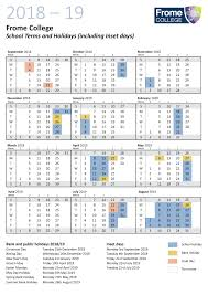 Term Dates - Frome College