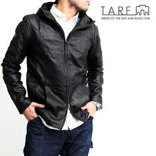 turf tarf jacket hood riders jacket leather sheep leather taking leather mens brand outer double zip casual casual trad ludo work military fashion simple