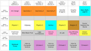 Sample Of Schedules Our Curriculum St Marys School
