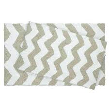 chevron bath rug reversible cotton soft zigzag ivory 2 piece bath mat set