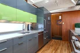 glass and high gloss laminate cabinets in lime green grey kitchen cabinet doors denver co