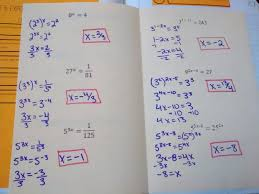exponential and logarithmic equations interactive notebook pages