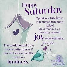 Good Morning Quotes For Saturday