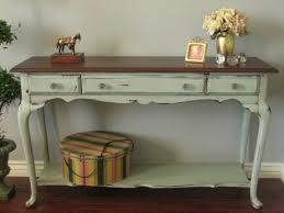 sofa table decor. Image Of: Diy Distressed Wood Sofa Table Decor