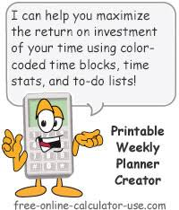 Online Weekly Planner Maker Free Printable Weekly Planner Template Creator Apply 80 20 Rule
