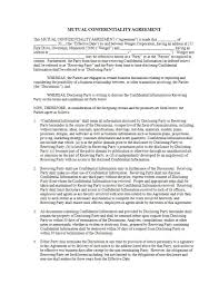 13+ Mutual Confidentiality Agreement - Pdf, Doc