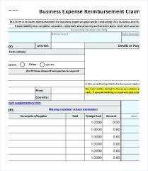 Expense Reimbursement Template Impressive Free Reimbursement Form Template Word Expenses Contactoryco