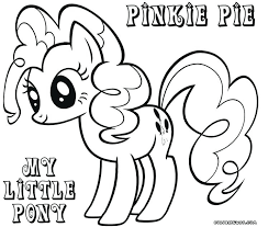 My Little Pony Characters Coloring Pages Moonoon