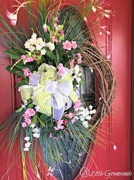 spring wreath for front doorPerfectly Pink Roses Wreath for Spring  3 Little Greenwoods