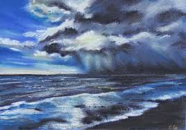 storm clouds over tyrella co down cheryl ball art
