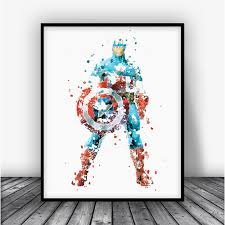... Captain America Poster Standing Art Print Poster by Carma Zoe ...