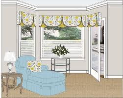 Swing top treatment creates illusion of 3-sided bay window | Swing ...