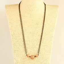 Indian Jewellery Designs Mangalsutra Geru Polish Beads Long Mangalsutra Indian Jewelery