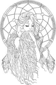 Lineartsy Free Adult Coloring Page Dreamcatcher Lined Projects