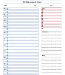 Schedule Template Microsoft Word Printable Schedule Template