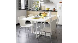 glass round dining table crate and barrel tables