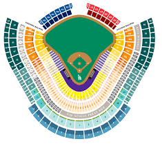 Dodger Seating Dodger Stadium Seat Map With Rows Dodgers
