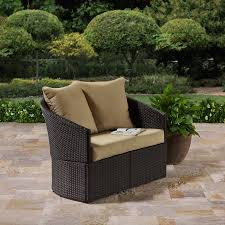 Better Homes and Gardens Cascade Falls Curved Loveseat Brown